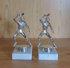 2 Tischtennis Figuren fertig montiert (Ehrung Geschenke Pokale Sieger Pokal)