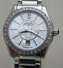 Rotary Ladies Diamond dial Watch Stainless Steel mother of Pearl RRP £170