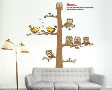 Cartoon owl tree Home Decor Removable Wall Sticker/Decal/Decoration