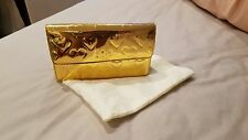 Brand New Marc Jacobs Gold Mirror Heart Clutch Bag Wallet With Chain