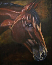 "CUSTOM HORSE PORTRAIT PAINTING by artist BETS 16"" X 20"" Your Wonderful Horse!!"