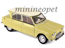 NOREV 181535 1964 64 CITROEN AMI 6 1/18 DIECAST MODEL CAR NAPLES YELLOW