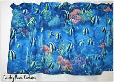 "Sea World Tropical Fish Ocean New Window Curtain Valance 43""W x 13""L"