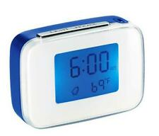 Conair Talking Travel Alarm Clock Blue+White Voice Interactive