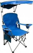 Quik Shade Folding Chair Fully Adjustable with Carrying Bag, Blue, Bravo Sports