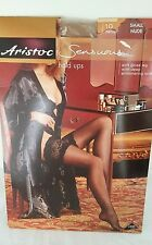 Aristoc Sensuous 10 Denier Hold Ups Nude Small Gloss Leg Deep Shimmering Lace