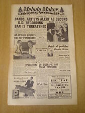 MELODY MAKER 1953 DECEMBER 12 CHRISTMAS ISSUE DIZZY GILLESPIE JIMMIE GREEN
