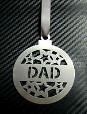 DAD BAUBLE Daddy Father Grandad Decoration Christmas Tree Hanging Ornament Gift