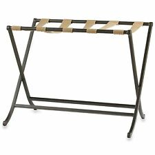 Folding Luggage Travel Suitcase Carrier Storage Hotel Style Metal Rack Stand New