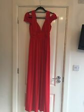 BNWT ASOS Red Off Shoulder Maxi Occasion Dress UK 12