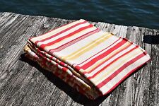 Vintage Pair of Striped Cotton Bates of Maine Camp Cottage Twin Bedspreads