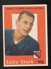 1959-60 TOPPS #57 ED SHACK NEW YORK RANGERS VINTAGE HOCKEY CARD NM NM/MT