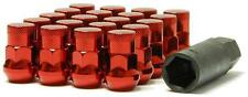 MUTEKI M12 x 1.5 SR35 RED CLOSED TUNER WHEEL LUG NUTS + 4 LOCK PACK OF 20 Z2187
