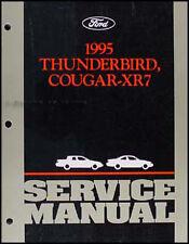 1995 Thunderbird Cougar XR7 Shop Manual Ford Mercury LX Super Coupe Tbird Repair