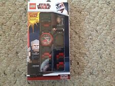 LEGO STAR WARS CLONE WARS, COUNT DOOKU WATCH, WITH MINI FIGURE, NEW 2856129