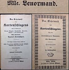 1846 Lenormand Fortune Telling Playing Cards Cartomancy Divination Rare Booklet