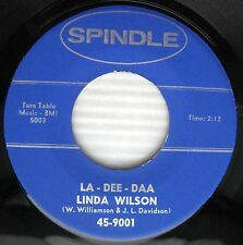 LINDA WILSON La-Dee-Daa / Dreamy Eyes Female Teen Rocker SPINDLE recs 45 CC679