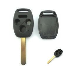 Uncut Blade Replacement Keyless Remote Shell Case Key FOB for Honda 3+1 Buttons