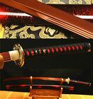 41' 1095 CARBON STEEL RED UNOKUBI-ZUKURI BLADE JAPANESE SAMURAI SWORD KATANA