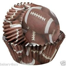 WILTON CUPCAKE LINERS BAKING CUPS FAVORS FOOTBALL PARTY 36 COUNT SPORTS NFL