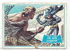 1966 Topps Batman Blue Bat with Bat Cowl Back (7B) The Grim Gladiator