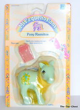 my little pony G1** HTF DAFFODIL VARIANT SPANISH CARD **SPAIN MOC