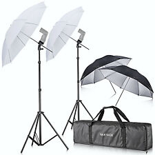 Neewer Camera Double Speedlight Flash ShoeMount Swivel Soft Umbrella Kit f Canon