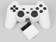 Wireless White Vibration Joystick Game Controller for Sony PS1 PS2 Quality First