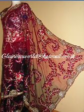 INDIAN BOLLYWOOD BRIDAL SARI + READYMADE BLOUSE/LENGHA/KAMIZ/WEDDING SAREE