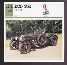 1932-1938 Frazer Nash TT Replica British Car Photo Spec Sheet Info ATLAS CARD