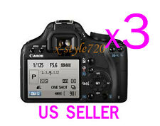 3x Canon EOS 500D Rebel T1i LCD Screen Protector Guard Cover Film