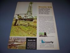VINTAGE.....BRANTLY B2B HELICOPTER ..COLOR SALES AD...RARE! (733H)