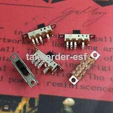 SS-23E04 3 Position 2P3T Panel Mini Verttcal Slide Switch 10 Pcs
