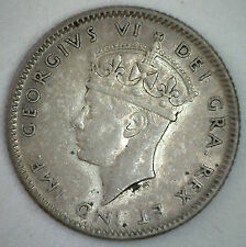 1947 C Newfoundland SILVER 10 Cents KM# 20a Ten Cent Coin XF