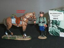 KING AND COUNTRY WSS147 GERMAN FORCES COSSACK STANDING WITH HORSE TOY SOLDIER