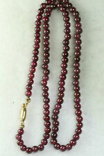 VINTAGE ANTIQUE 15.25 INCH GARNET BEAD NECKLACE