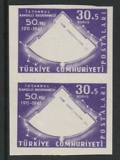 Turkey (266)1961 Observatory IMPERF proof pair Missing black  unmounted mint