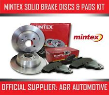 MINTEX REAR DISCS AND PADS 258mm FOR NISSAN ALMERA 2.0 D (ABS) 1995-98