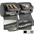 "2x 7"" Car Headrest DVD Player Radio Monitor+Free Game Handles, FM, SD,USB, IR US"