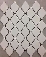 White Arabesque Porcelain Lantern Mosaic Tile  Kitchen Backsplash Bathroom