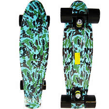 Camouflage Penny Style Cruiser Board 22 inch Retro Plastic Skateboard Complete