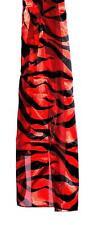 SCARF Classic Red & Black Long Zebra Or FANTASY TIGER