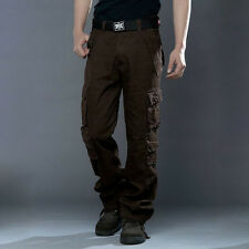 MEN ARMY CARGO CAMO COMBAT MILITARY TROUSERS CAMOUFLAGE PANTS CASUAL UK29-38