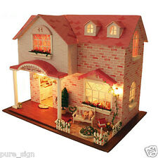 DIY Handcraft LED Lights The Pink Sweetheart Music Dolls House Miniature