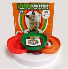 Cat Toilet Training System Kit Colourful Plastic Trainer Use Human Toilet Litter