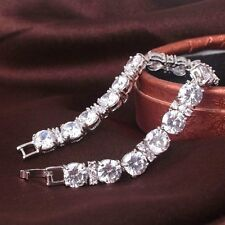 Lovely new 18ct white gold filled  sapphire crystal bracelet