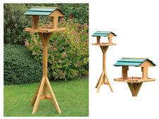Mesa De Pájaro Deluxe Jardín Comedero Alimentador de madera casa de madera Pié