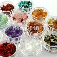 12 colors 3D Nail Art Decoration Rhinestones Natural Jade Gem Nail Supplies Tool