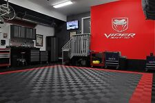 Viper SRT-10 Text and Fangs Logo Combo Garage Sign 6 Feet Long Brushed Silver