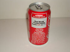 SUPER BOWL 1 SODA COKE CAN PACKERS CHIEFS NFL 1987 VERY TOUGH ISSUE